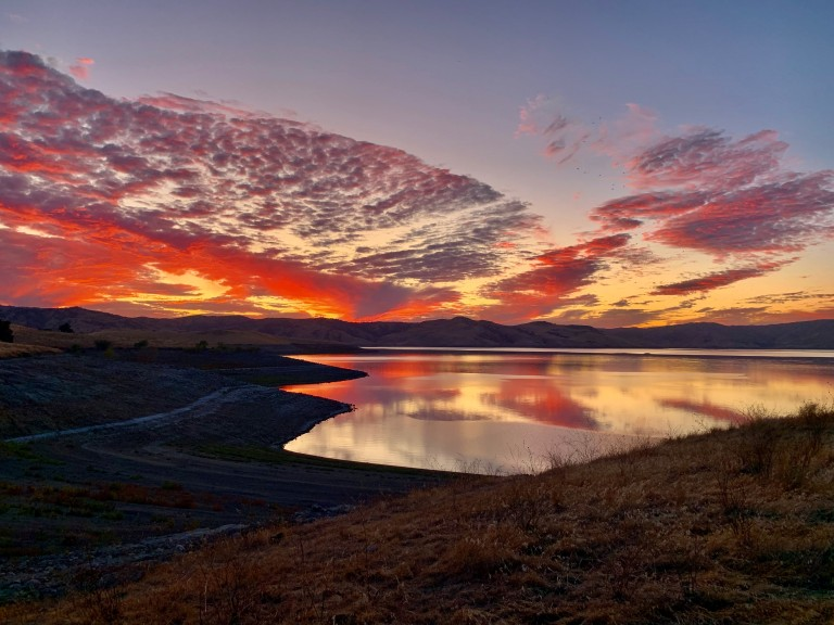 San Luis Reservoir SRA (Sunset) by Megan Sanchez